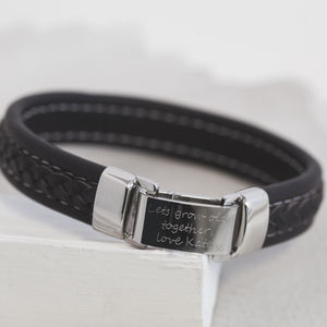 Men's Personalised Memo Bracelet - gifts under £50