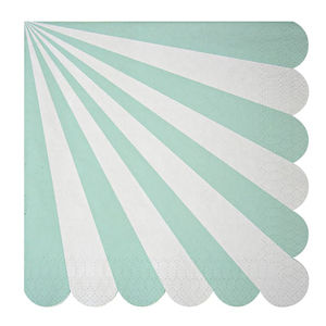 Striped Mint Paper Party Napkins