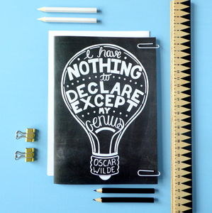 Notebook Oscar Wilde Typographic Quote - view all sale items