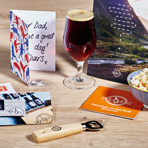 Personalised Three Month Beer Club Gift With Beer Book