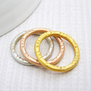 Personalised Gold Stacking Rings