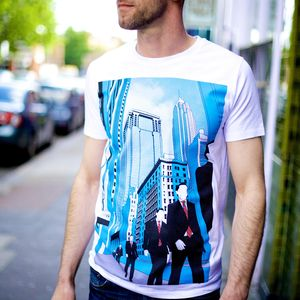 New York Wall Street Illustration T Shirt