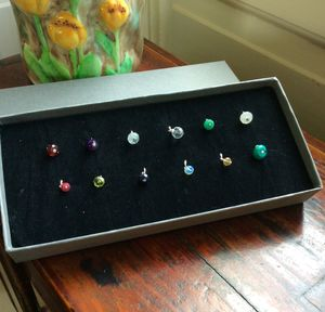 Set Of 12 Birthstone Charms