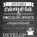 'Life Is Like A Camera' Quote Poster