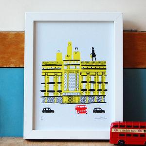 London Selfridges Print
