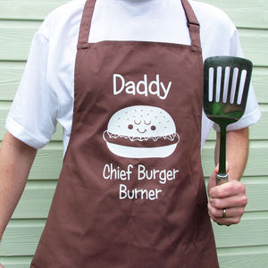 Personalised Bbq Burger Apron - personalised