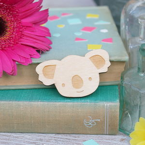 Wooden Koala Brooch - pins & brooches