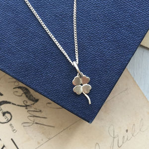 Four Leaf Clover Necklace In Sterling Silver