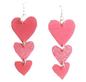 Coral Heart British Made Ethical Earrings - earrings