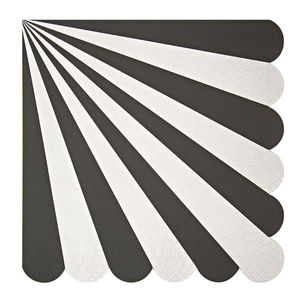 Striped Black Paper Party Napkins - party decorations