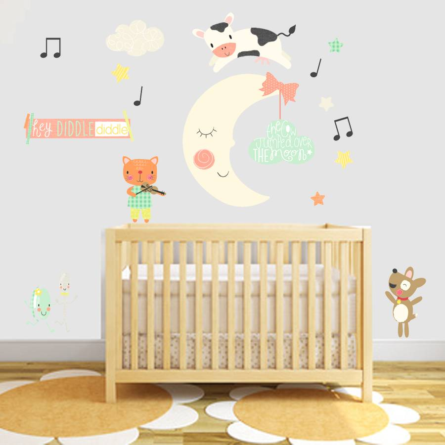 hey diddle diddle fabric wall stickers by littleprints ...