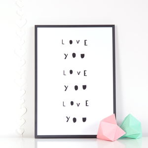 'Love You' Print - baby's room