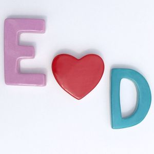 Personalised Ceramic Initials Magnets Set