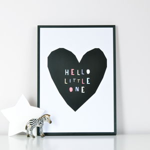 'Hello Little One' Print - posters & prints