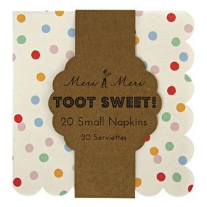 Spotty Paper Party Napkins