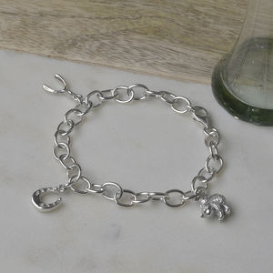 Good Luck Personalised Silver Lucky Charm Bracelet