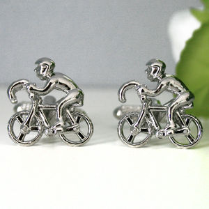 Cyclist Bicycle Cufflinks