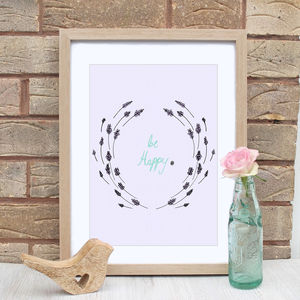 Inspirational Be Happy Print - art & pictures