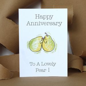 Anniversary Pear Card - shop by category