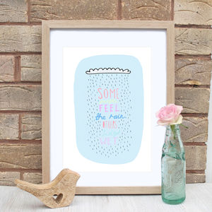 Motivational Rain Cloud Quote Print