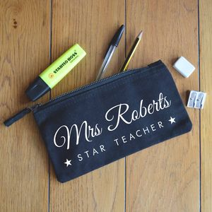 Personalised Teachers Pencil Case - gifts for teachers