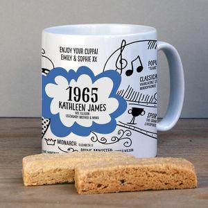 Personalised 1965 Mug For 50th Birthday