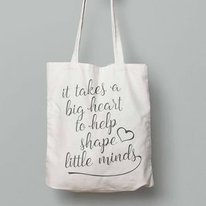 'It takes a big heart' Tote Bag - gifts for teachers