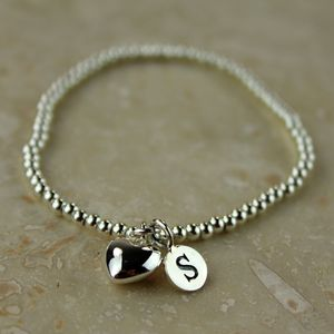 Personalised Silver Heart Bracelet - view all mother's day gifts
