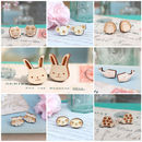 Laser Cut Wooden Animal Stud Earrings