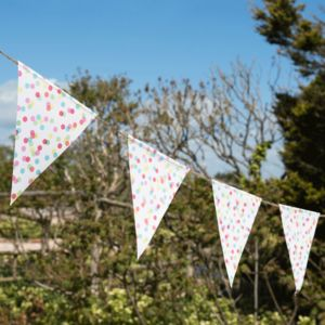 Confetti Pattern Paper Bunting - outdoor decorations