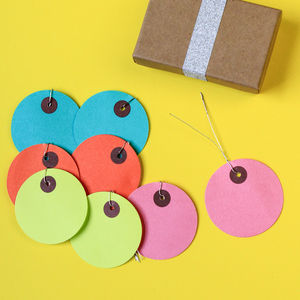 Round Bright Coloured Tags