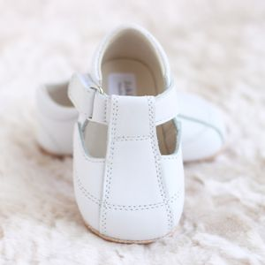 Leather T Bar Shoes - christeningwear