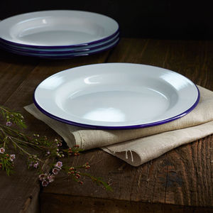 Falcon Enamel Plates Set Of Four - table decorations
