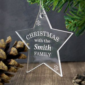 Christmas Star Personalised Acrylic Decoration