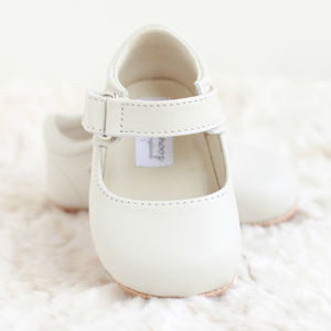 Leather Mary Jane Shoes - christening wear