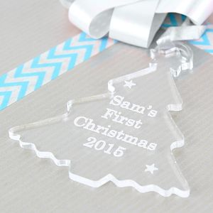 Christmas Tree Personalised Acrylic Decoration