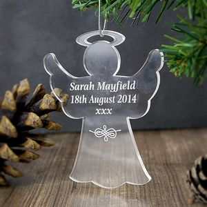 Angel Personalised Acrylic Decoration