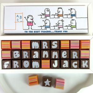 Thank You Teacher Gift Personalised Chocolates - gifts for teachers