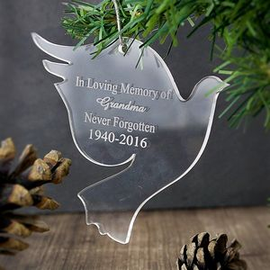 Dove Personalised Acrylic Decoration