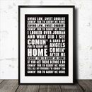 Swing Low Sweet Chariot Rugby Song Lyrics Poster