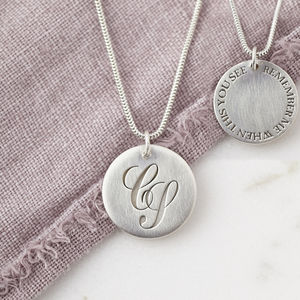 Personalised Silver Monogram Hidden Message Necklace - necklaces & pendants
