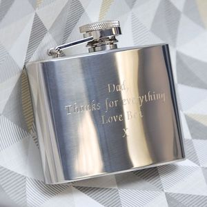 Personalised Classic Gift Boxed Hip Flask - hip flasks