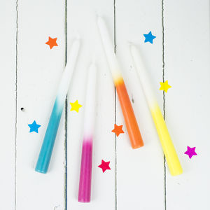 Dip Dye Coloured Candles