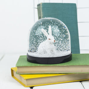 Snowglobe, White Rabbit - ornaments
