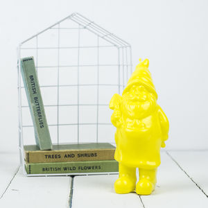 Yellow Gnome Candle - lights & lanterns