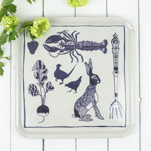 Melamine Tray, Rabbit