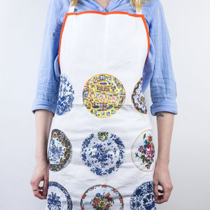 Cotton Apron, Dutch Plates Collection