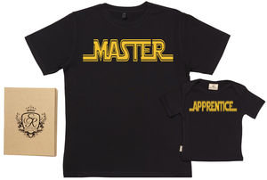 'Master' And 'Apprentice' Father And Baby T Shirt Set - children's dad & me sets