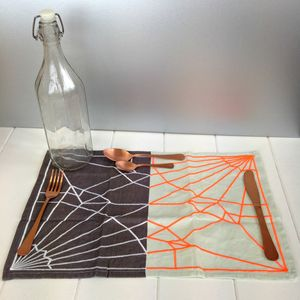 Grey And Neon Decorative Placemat - placemats & coasters