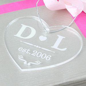 Heart Acrylic Personalised Decoration - hanging decorations